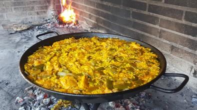 Paella valenciana, arroz