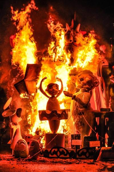 Crema (quema de fallas) - Valencia